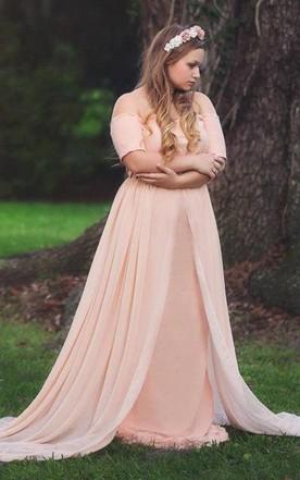 Bridesmaid Dress For Plus Size Ladies Full Figured Dress