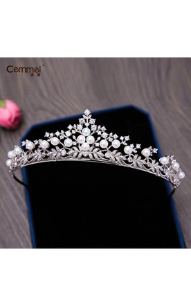 Marriage Bridal Zircon Headdress Crown Necklace Earrings Set Marriage Wah Chang Wedding Supplies