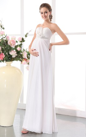 White Maternity Wedding Dresses Cheap