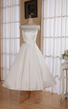 50\'s Style Wedding Dresses Tea Length on Sale - June Bridals