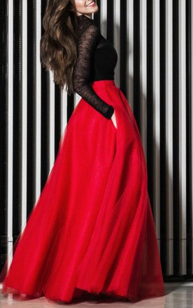 Long Red Black Dress,red and black dress,