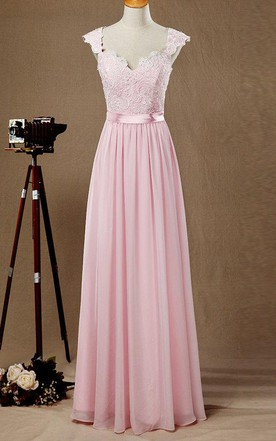 Pastel Blush Bridesmaid Dress