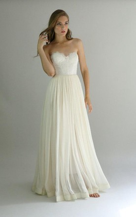 Wedding gowns for petite brides short girls bridals dresses lace and chiffon strapless gown samantha size 10 dress junglespirit Choice Image