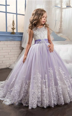 Affordable dresses for flower girls cheap junior brides dresses sleeveless scoop neck lace ball gown with beading mightylinksfo