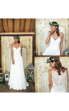 Unique Racerback Wedding Dress | Vintage Wedding Dress - June Bridals