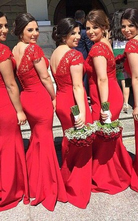 Red Coral Bridesmaid Dress All Color Available June Bridals