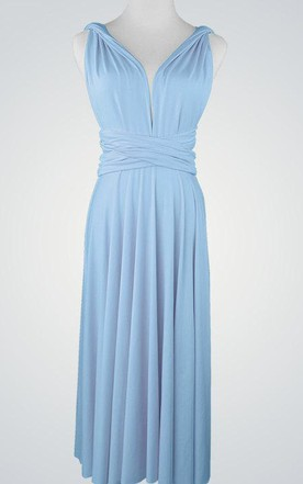 V-Neck Chiffon Pleated Dress With Straps