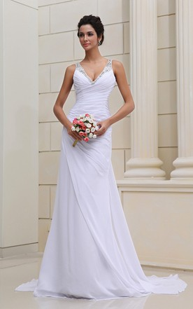 Cheap wedding gowns for summer casual short bridal dresses june flaterring deep strapless gown with se sequins junglespirit Choice Image
