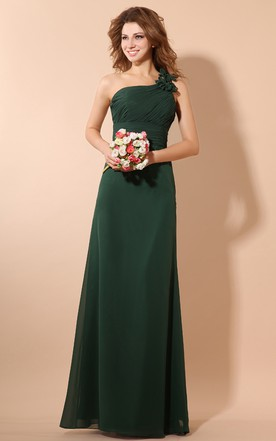 Maxi Soft Flowing Fabric Dress With Ruching Top And Fl Strap