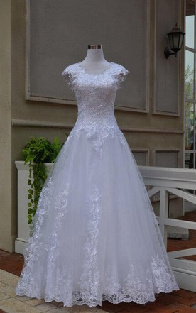Vintage White Lace Sweetheart Wedding Dress With Keyhole Back