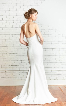 Sweetheart wedding gowns dresses strapless bridal dresses sweetheart fit and flare simple style wedding dress junglespirit Gallery