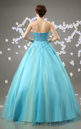 Glam Quinceanera Princess Ball Gown With Soft Tulle
