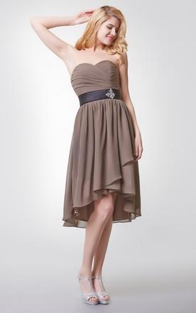 High Low Chiffon Dress