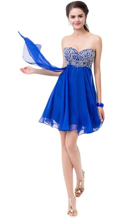 Royal blue cocktail dresses cheap