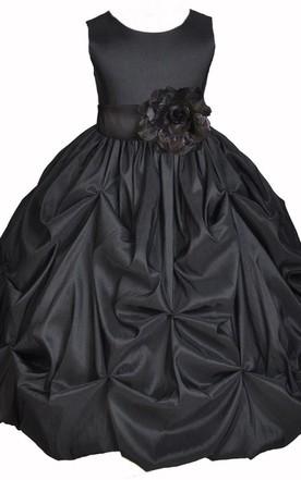 Black Flower Girl Dresses   Flower Girl Black Dresses - June Bridals