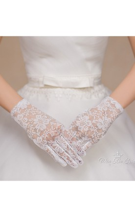 Lace Short Gloves