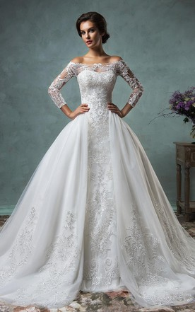 A Line Lace Wedding Dress - June Bridals