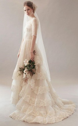 Vintage Style Wedding Dresses | Retro Lace & Tea-Length Wedding ...