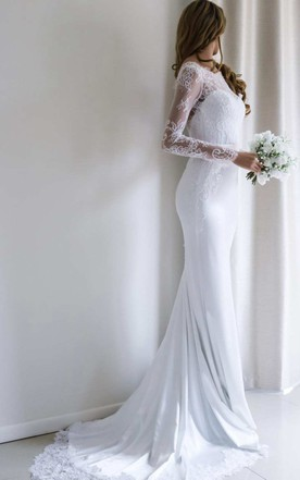 Sheath & Column Wedding Dress Cheap, Affordable Sheath Bridal ...