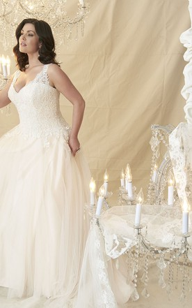Purple and white wedding dresses june bridals ball gown v neck beaded sleeveless tullelace plus size wedding dress junglespirit Image collections