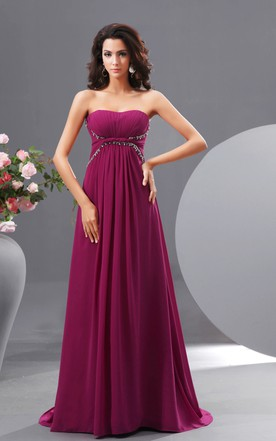 Graceful A-Line Sweetheart Sleeveless Gown With Pleats And Sequins