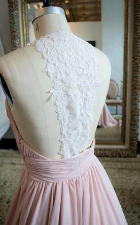 Light Pink Wedding Dress, Pale Pink Wedding Dress - June Bridals