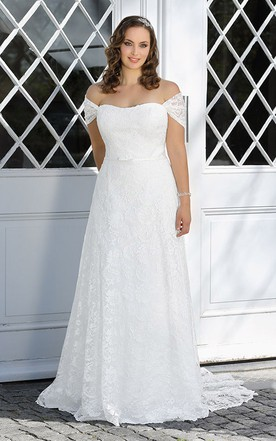 e9c3cb4e43 Plus Figure Beachy Wedding Gowns, Beach Large Size Bridals Dresses ...