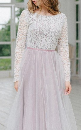 Wedding Violet Fog Dress