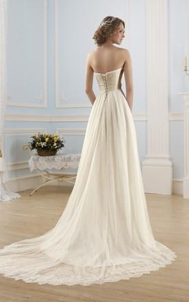 Wedding Dress with Trains, Long Length Trains Bridals Dresses - June ...