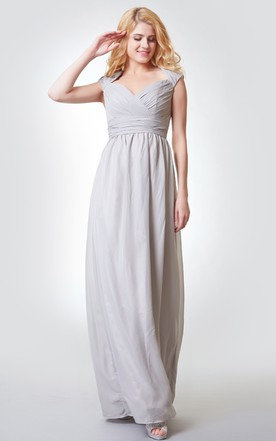 Light Grey Bridesmaid Dresses with Sleeves