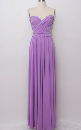 Lilac Floor-length Jersey Dress