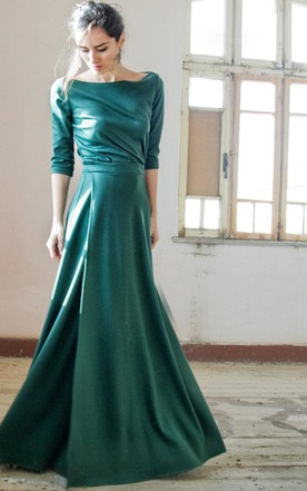 Long Dress With Split Front