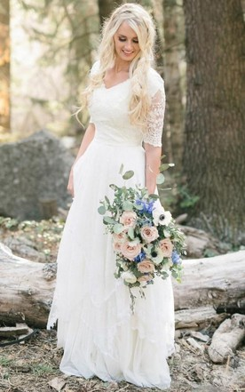 Vintage Wedding Dress With Lace | Retro Bridal Gowns - June Bridals
