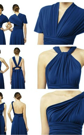 278da5db61b Elegant A-Line Chiffon Evening Dresses Floor Length Convertible Bridesmaid  Dresses
