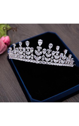 Zircon Crown Necklace Earrings Earrings Children Birthday Party Princess Princess Bride Married