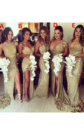Gold & Beige Bridesmaid Dress | All Color