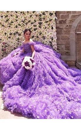 Purple lavender wedding dress june bridals glamorous purple off the shoulder wedding dress 2016 long train flowers junglespirit Image collections