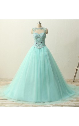 Sweetheart A-line Tulle Dress with Lace-up Back