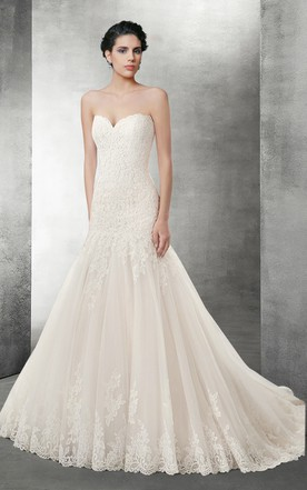 Sweetheart Wedding Gowns & Dresses | Strapless Bridal Dresses ...
