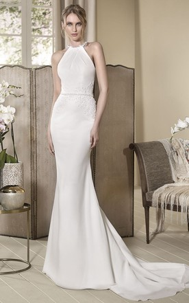 High Neckline Wedding Dress - June Bridals