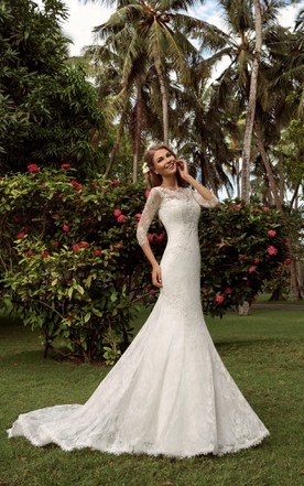 Wedding Dress with Trains, Long Length Trains Bridals Dresses - June ...