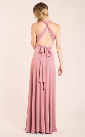 Infinity Halter Floor-length Dress