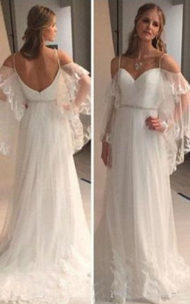 Open back wedding gowns backless bridal dresses june bridals backless lace sheer long sleeves lace beach bohemian wedding bridal gown junglespirit Images