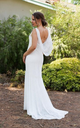 Lace Wedding Low Back Wedding Mermade Wedding Backless Wedding Boho Wedding Dress