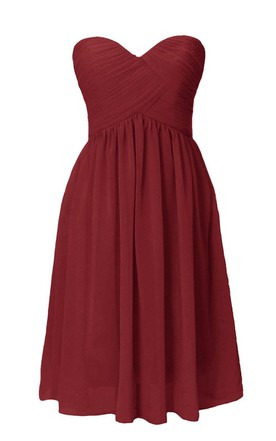 Basque Waist ChiffonDress With Lace-up Back