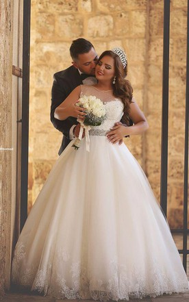 Wedding dress ball gown plus size