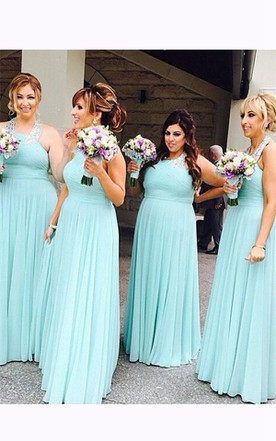 Turquoise Ocean Blue Beach Bridesmaid Dresses