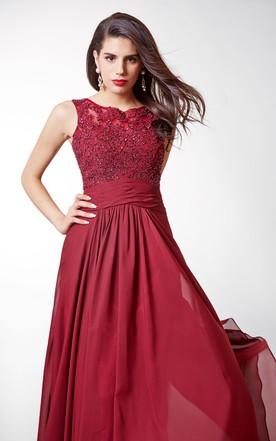 Burgundy Elegant Long Dresses