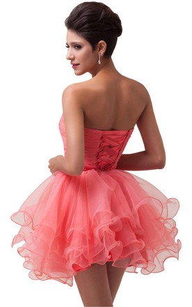 Sweetheart A-line Tiered Dress With Crystal Bodice