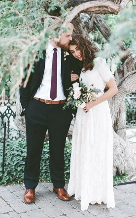 Simple Wedding Dresses With Lace - June Bridals